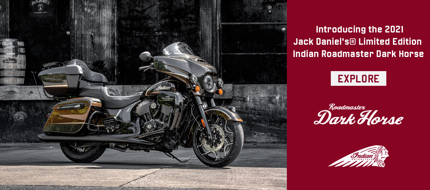 2021 Jack Daniel's® Limited Edition Indian Roadmaster® Dark Horse®